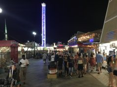 Visitors on the Seaside Heights boardwalk on a summer night. (Photo: Daniel Nee)