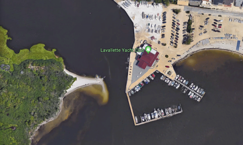 Shoaling off the Lavallette Yacht Club. (Credit: Google Maps)