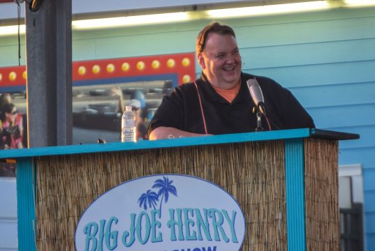Big Joe Henry hosts his variety show in Seaside Heights, N.J. (Photo: Daniel Nee)