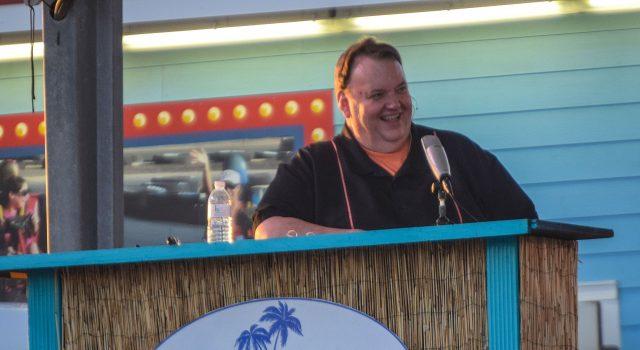 Big Joe Henry hosts his variety show in Seaside Heights, N.J. (Photo: Daniel Nee)