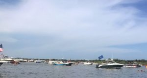 Boats at Tices Shoal, July 8, 2018. (Photo: Stacey Chait)
