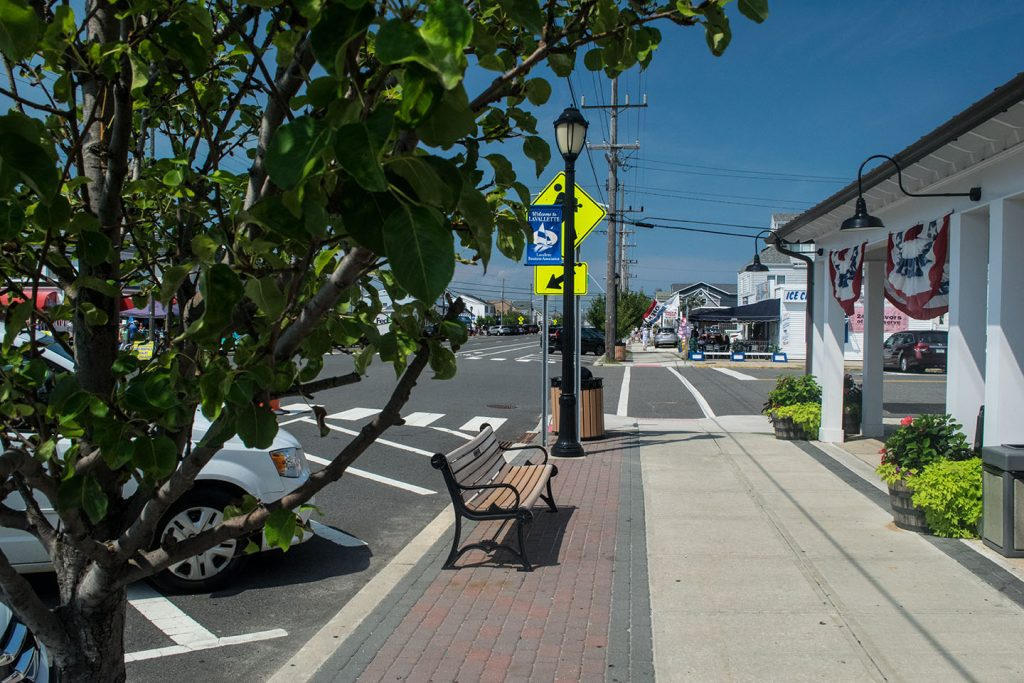 Lavallette's downtown business district. (Photo: Daniel Nee)