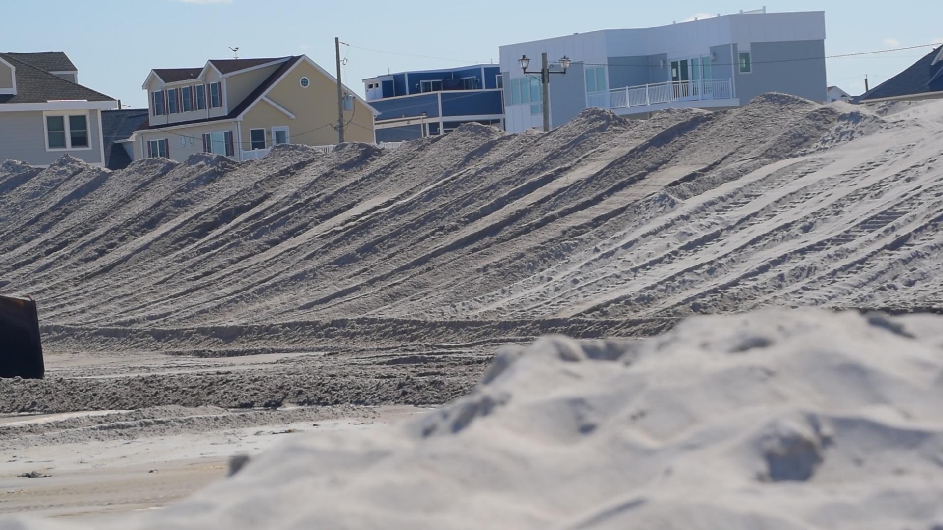 Dunes being built in Ortley Beach, N.J., Aug. 2018. (Photo: Daniel Nee)
