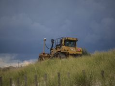 Beach replenishment in Seaside Park, N.J., Aug. 2018. (Photo: Daniel Nee)