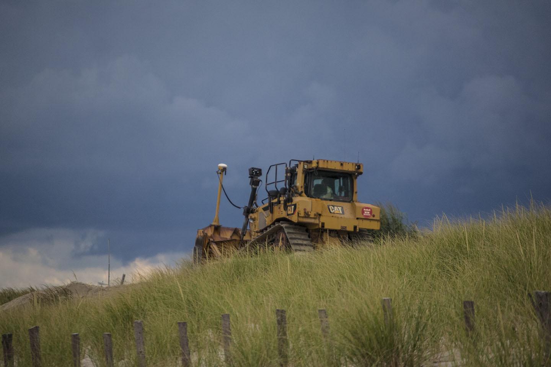 Beach replenishment in Seaside Park, N.J., Aug. 2018. (Photo: Daniel Nee)