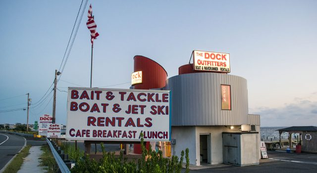 The Dock Outfitters, Seaside Heights, Sept. 2018. (Photo: Daniel Nee)