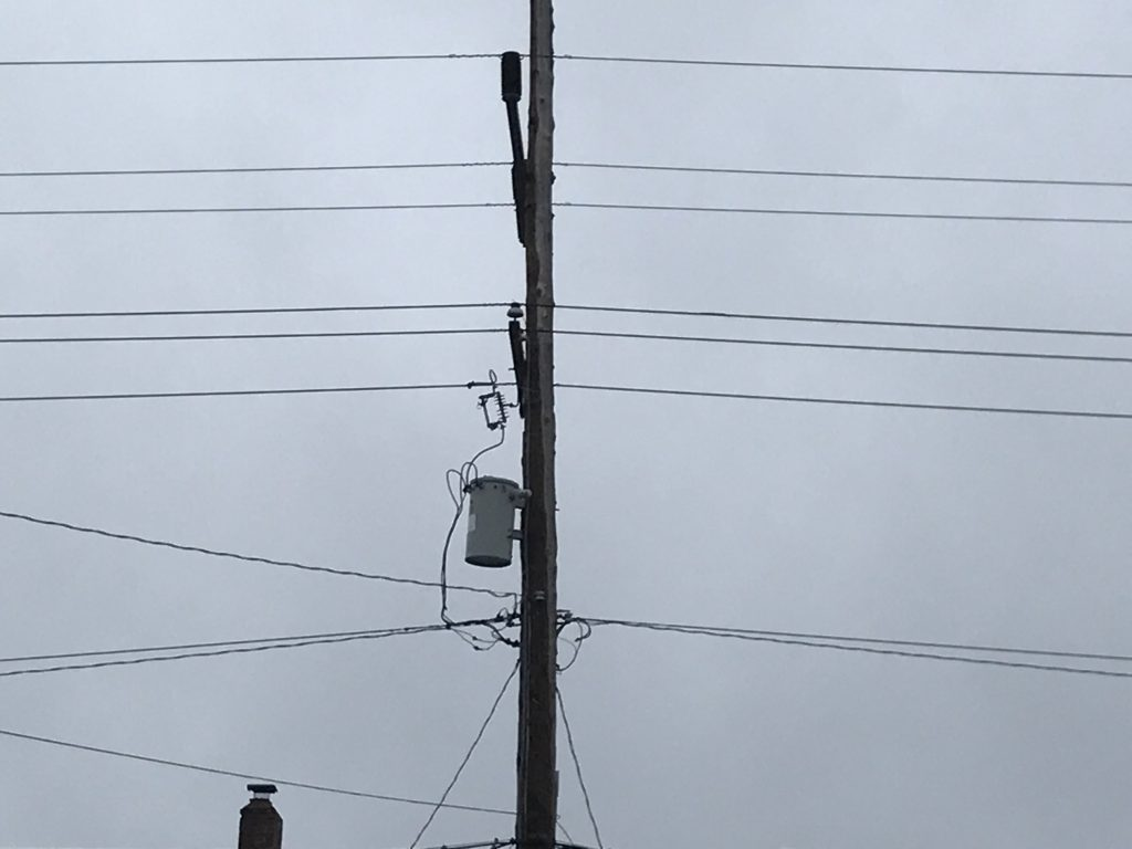 An utility pole with electrical equipment. (Photo: Daniel Nee)