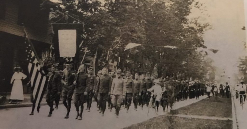 A service flag on parade in Lakewood, May 30, 1919. (Photo: Lakewood Historical Society)
