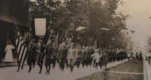 A service flag on parade in Lakewood, May 30, 1919. (Photo: Lakewood Historical Society)