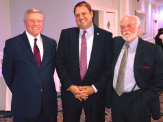 The Honorable James M. Blaney J.S.C., Prosecutor Bradley D. Billhimer, and the Honorable Frank S. Salzer, J.M.C. (Photo: OCPO)