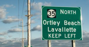 A road sign directing drivers to Lavallette. (Photo: Daniel Nee)