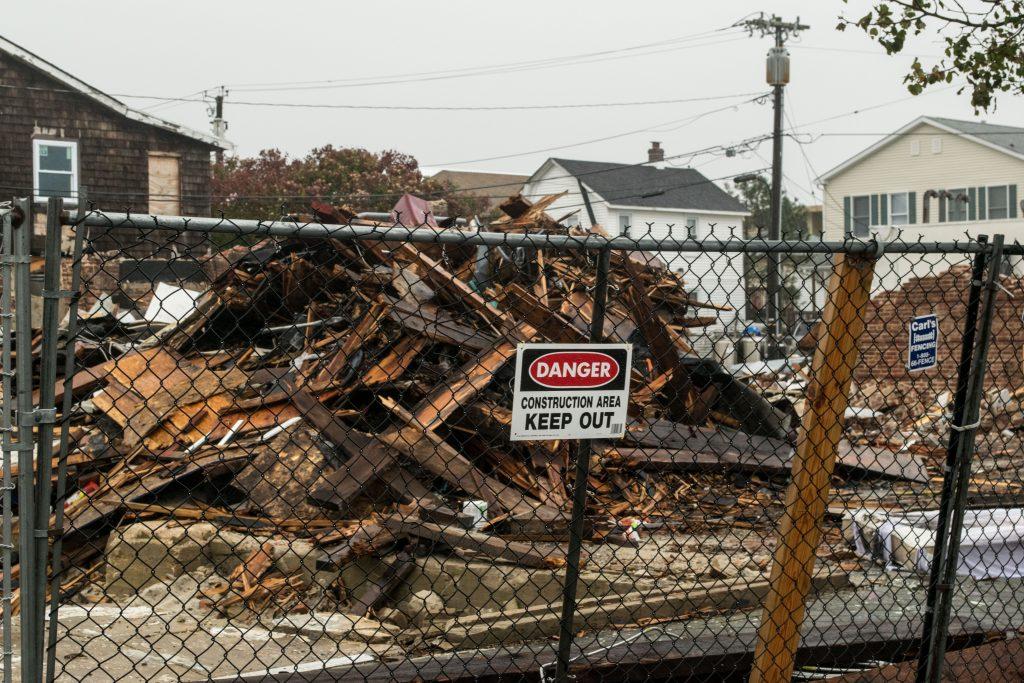 Demolition of the former Merge nightclub in Seaside Heights, N.J., Oct. 27, 2018. (Photo: Daniel Nee)