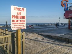 A vehicle entrance along the Seaside Heights boardwalk. (Photo: Daniel Nee)