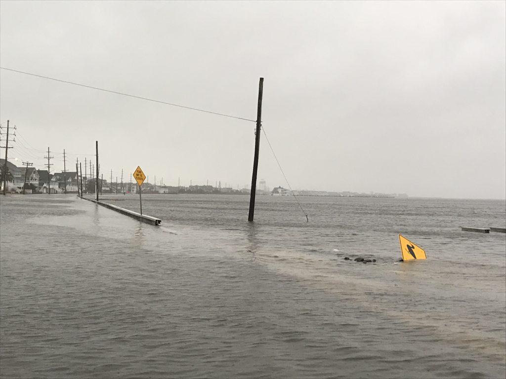 Flooding in Seaside Park, Nov. 26, 2018. (Photo: Daniel Nee)