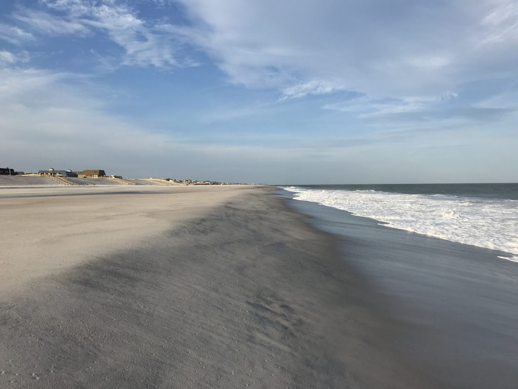 The replenished oceanfront in Ortley Beach following a nor'easter, Oct. 31, 2018. (Photo: Daniel Nee)