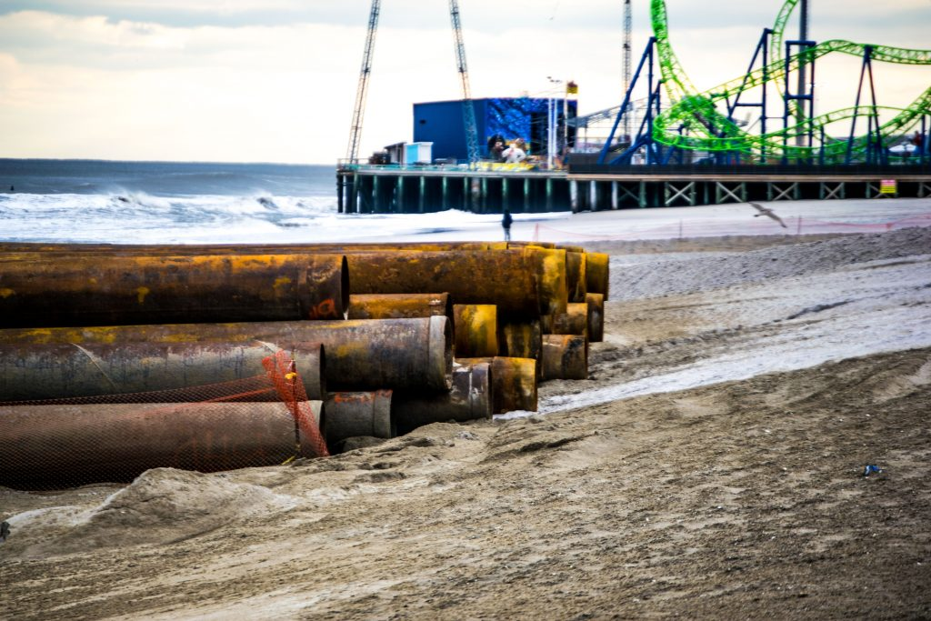 Beach replenishment begins in Seaside Heights, N.J., Nov. 19, 2018. (Photo: Daniel Nee)