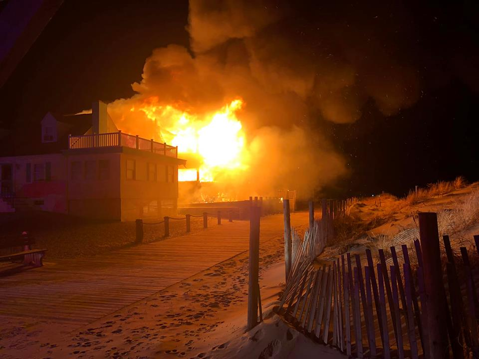 A home on the oceanfront in Lavallette near Newark Avenue that burnt down Dec. 20, 2018. (Photo: Lavallette PBA)