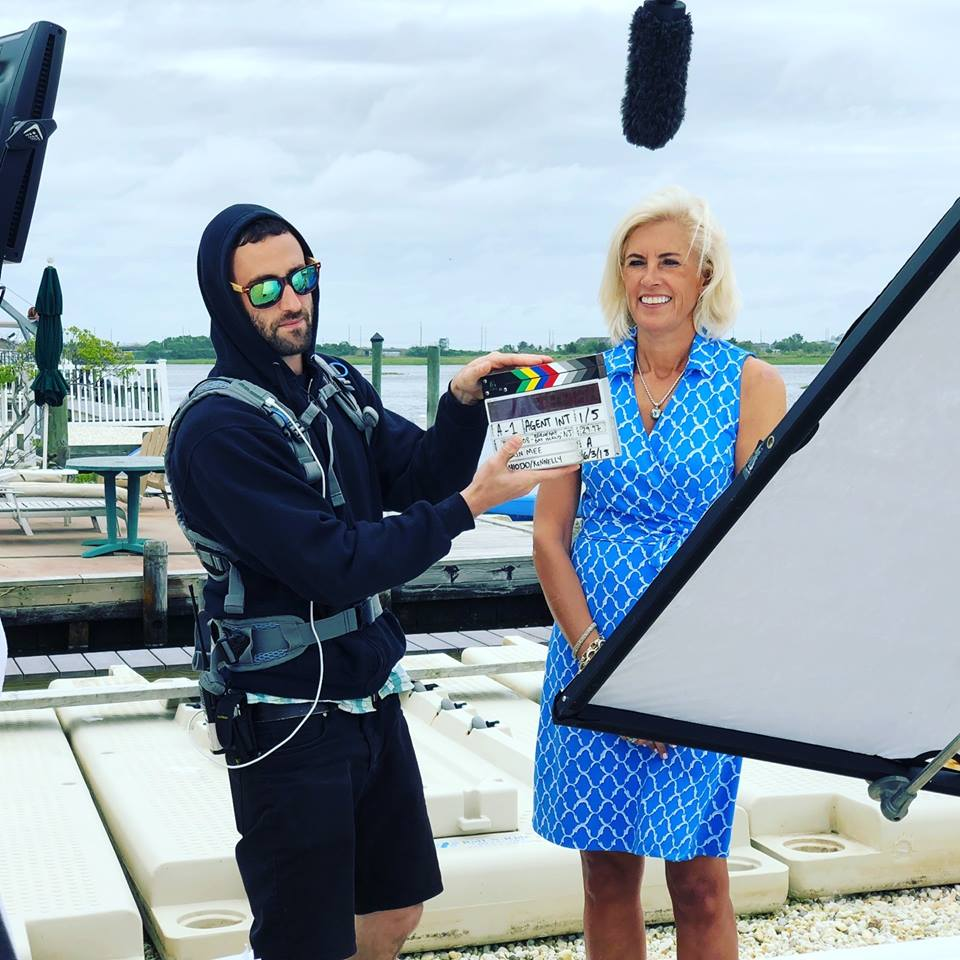 Local Realtor Lisa Temple, filming an episode of HGTV's 'Beachfront Bargain Hunt.' (Photo: Lisa Temple)