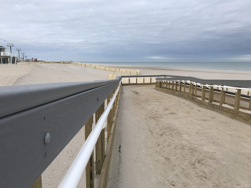 The completion of beach replenishment in Seaside Heights, Jan. 23, 2019. (Photo: Daniel Nee)