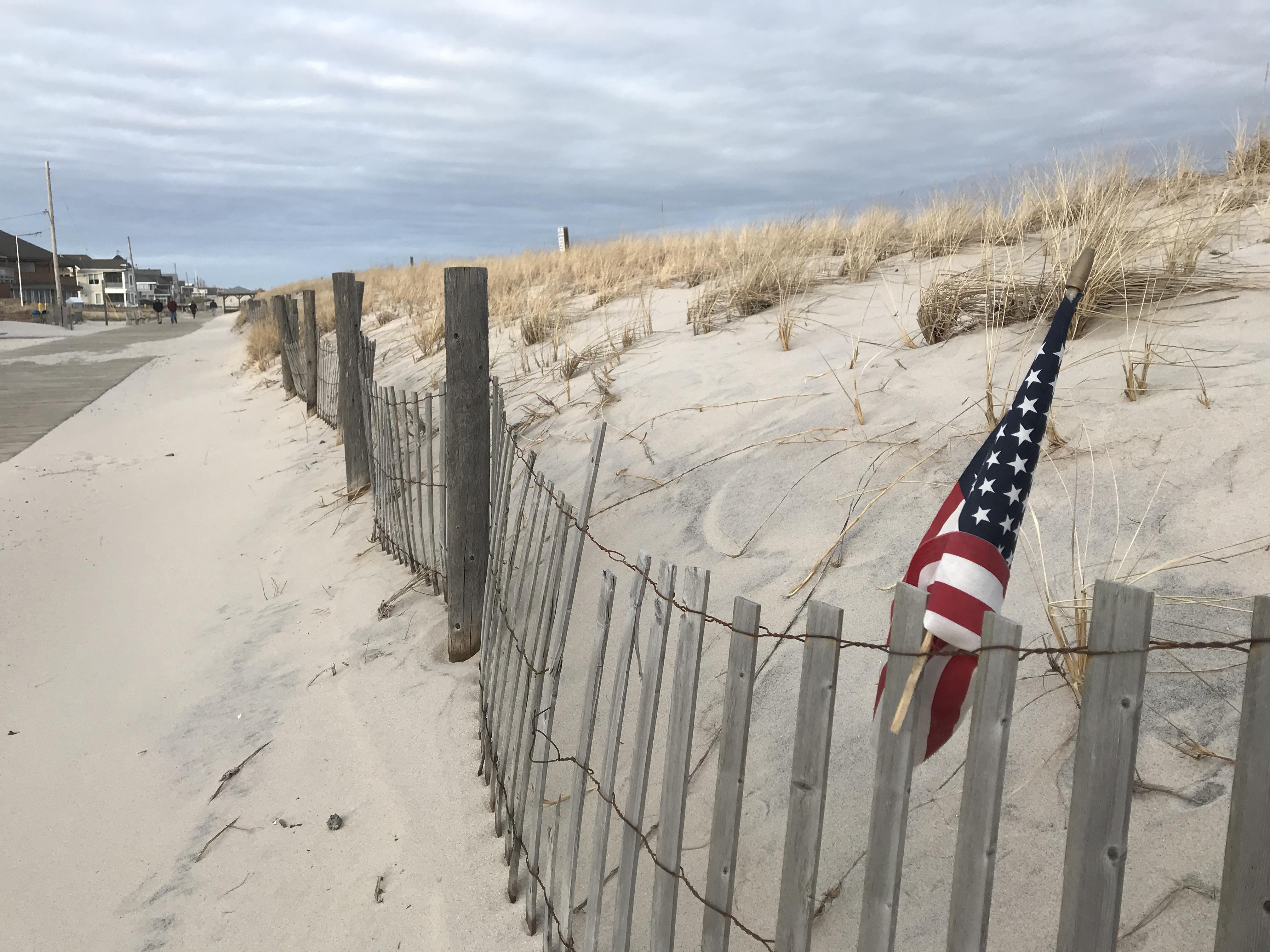The Lavallette dunes and boardwalk, Jan. 23, 2019. (Photo: Daniel Nee)