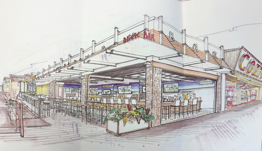 A proposed restaurant and bar at the Coin Castle site in Seaside Heights. (Photo: Seaside Heights Borough)