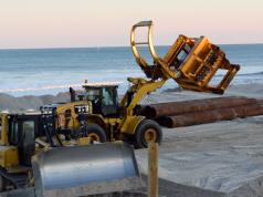 Beach replenishment in South Seaside Park, N.J., Jan. 29, 2019. (Photo: Daniel Nee)