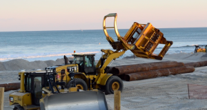Beach replenishment in South Seaside Park, N.J., Jan. 29, 2019. (Photo: Daniel Nee)