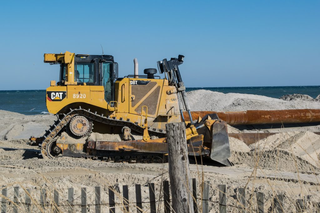 Beach replenishment begins in Lavallette, Jan. 30, 2019. (Photo: Daniel Nee)