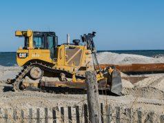 Beach replenishment begins in Lavallette, Jan. 30, 2019. (Photo: Daniel Nee)