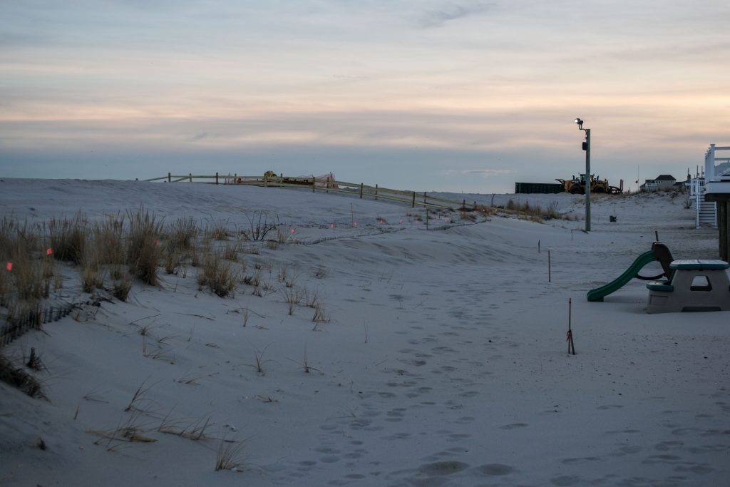 Beach replenishment completed in Toms River's north beaches, Jan. 2019. (Photo: Daniel Nee)