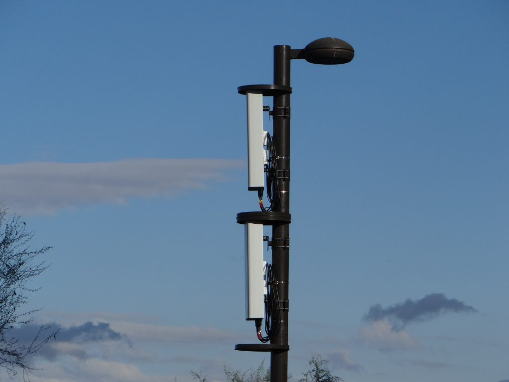 A pole-mounted 5G node. (Photo: Sports Video Group)