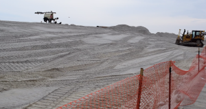 Dunes begin to take shape at the Lavallette beachfront, Feb. 6, 2019. (Photo: Daniel Nee)
