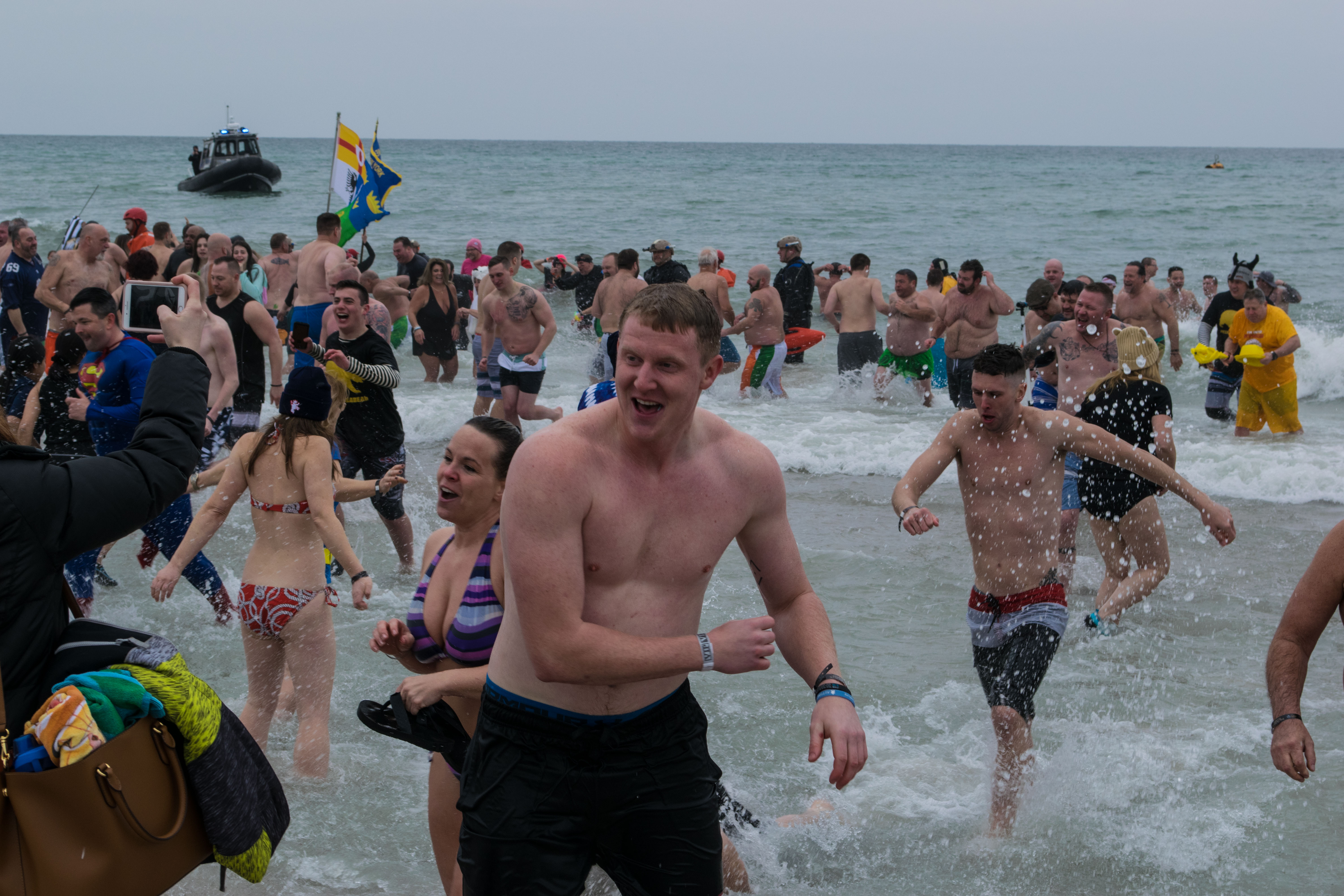 Participants in the 2019 Seaside Heights Polar Plunge. (Photo: Daniel Nee)