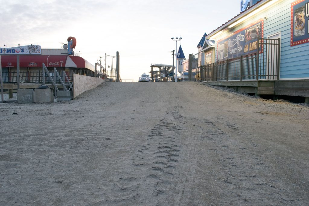 The Grant Avenue vehicle access site in Seaside Heights, Feb. 2019. (Photo: Daniel Nee)