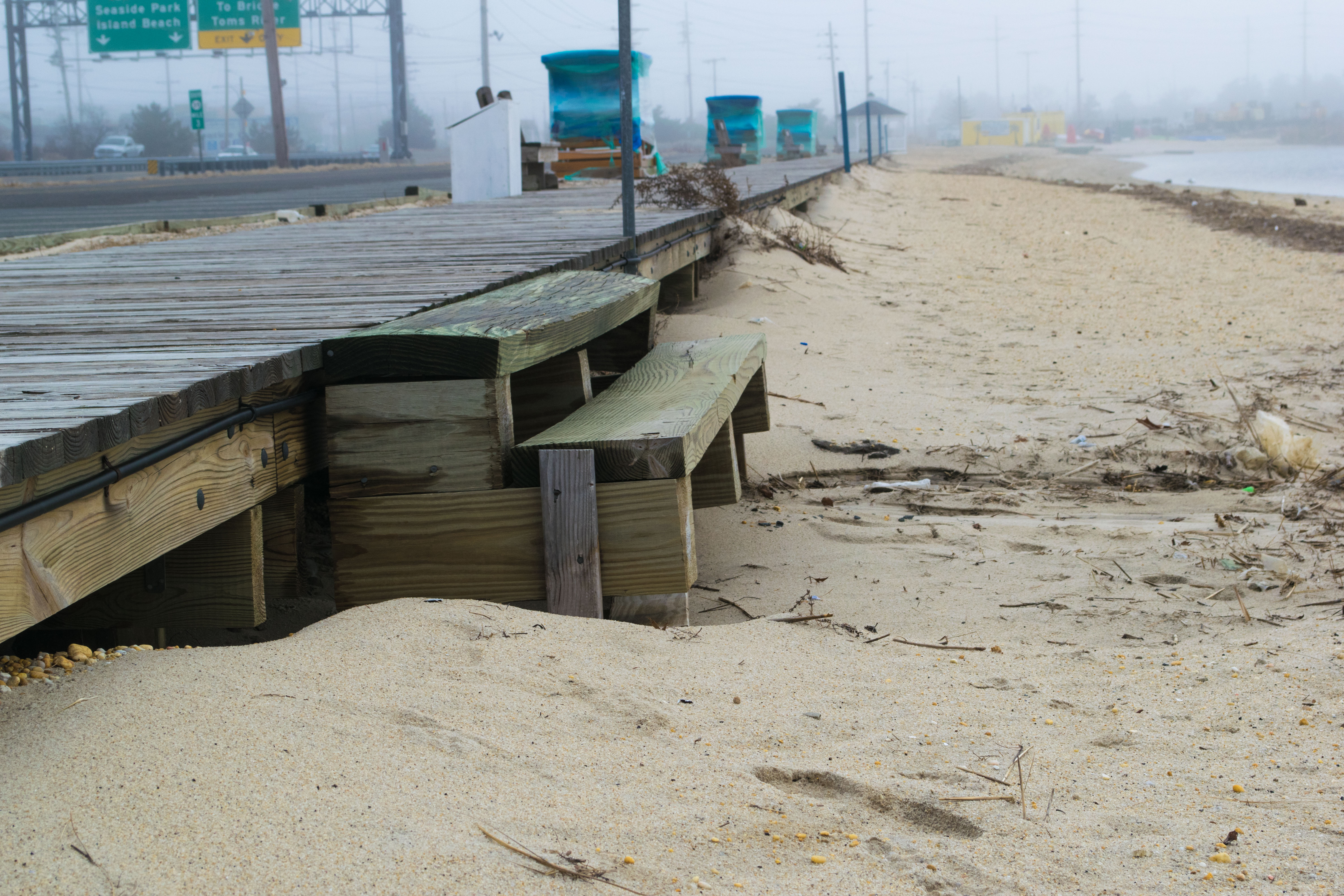 The current access point for Sunset Beach in Seaside Heights, Feb. 6, 2019. (Photo: Daniel Nee)