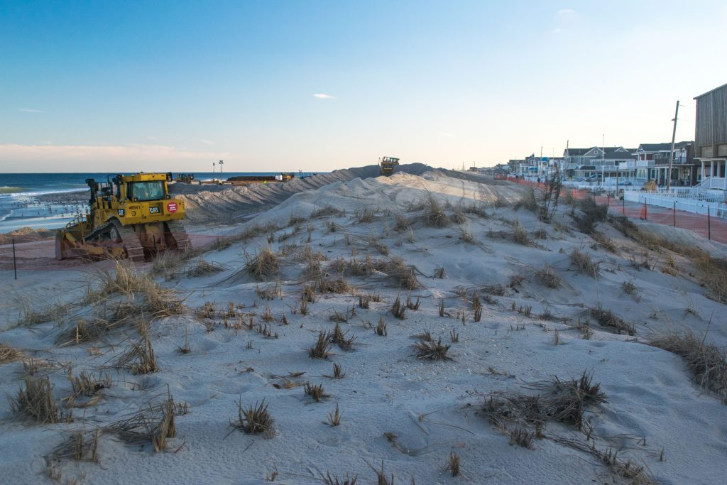 Lavallette's oceanfront under construction, March 4, 2019. (Photo: Daniel Nee)