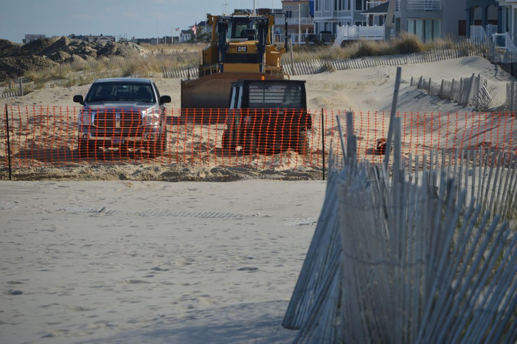 Beach replenishment begins in Point Pleasant Beach, NJ, April 10, 2019. (Photo: Daniel Nee)