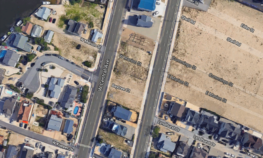 Five homes are proposed in the median lot at Camp Osborn. (Credit: Google Maps)