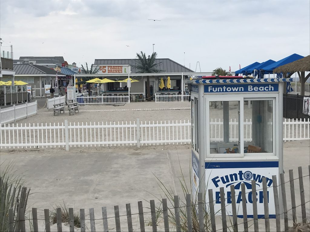 The former Funtown Pier property in Seaside Park, June 2019. (Photo: Daniel Nee)