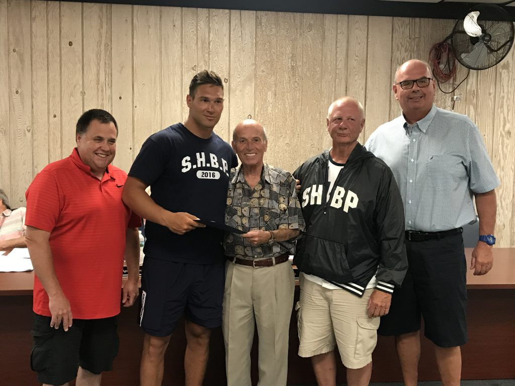 Peter LaQuaglia receives the Lifesaving Award in Seaside Heights, June 19, 2019. (Photo: Daniel Nee)