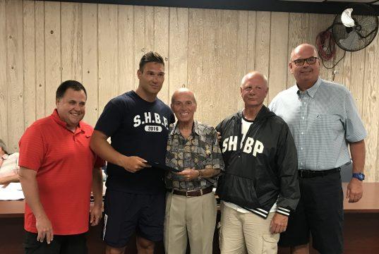 Peter LaQuaglia receives the Lifesaving Award in Seaside Heights, June 19, 2019. (Photo: Daniel Nee)