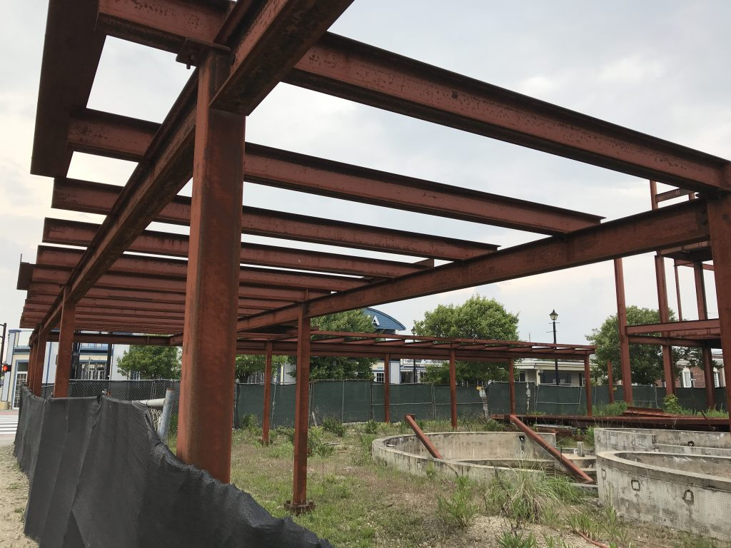 The steel structure at the Boulevard and Hamilton Avenue in Seaside Heights, June 5, 2019. (Photo: Daniel Nee)