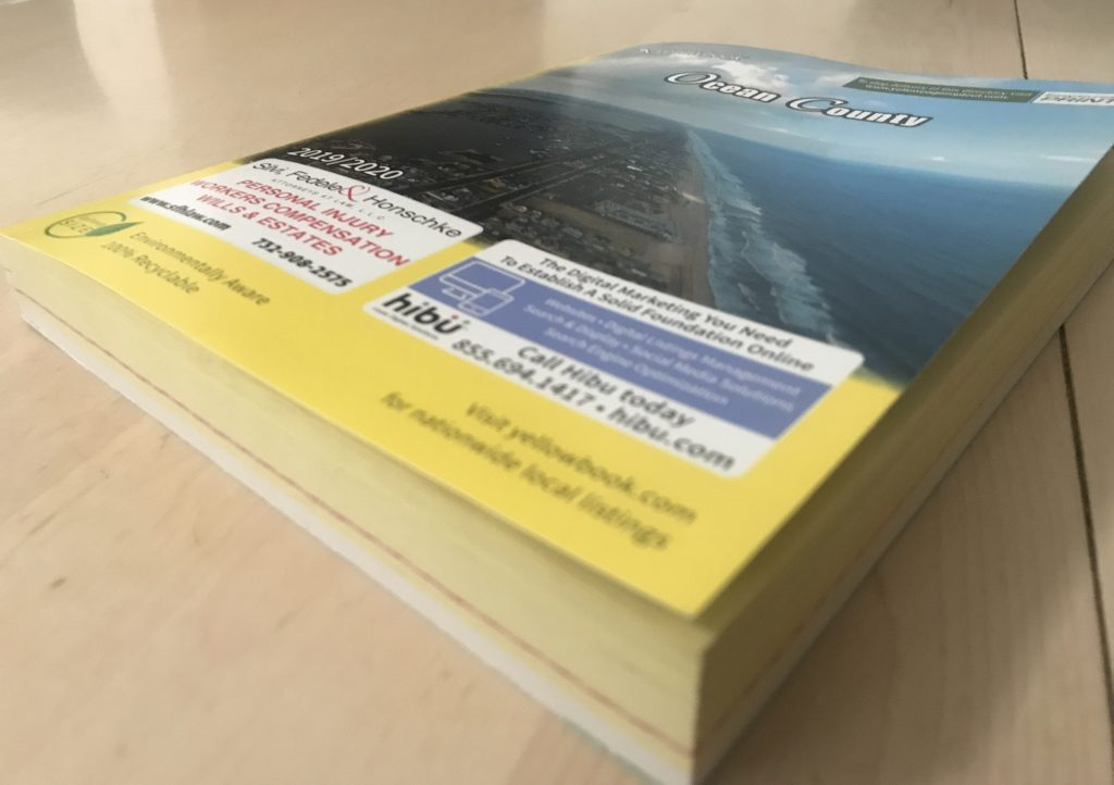 A 2019 Ocean County phone book. (Photo: Daniel Nee)