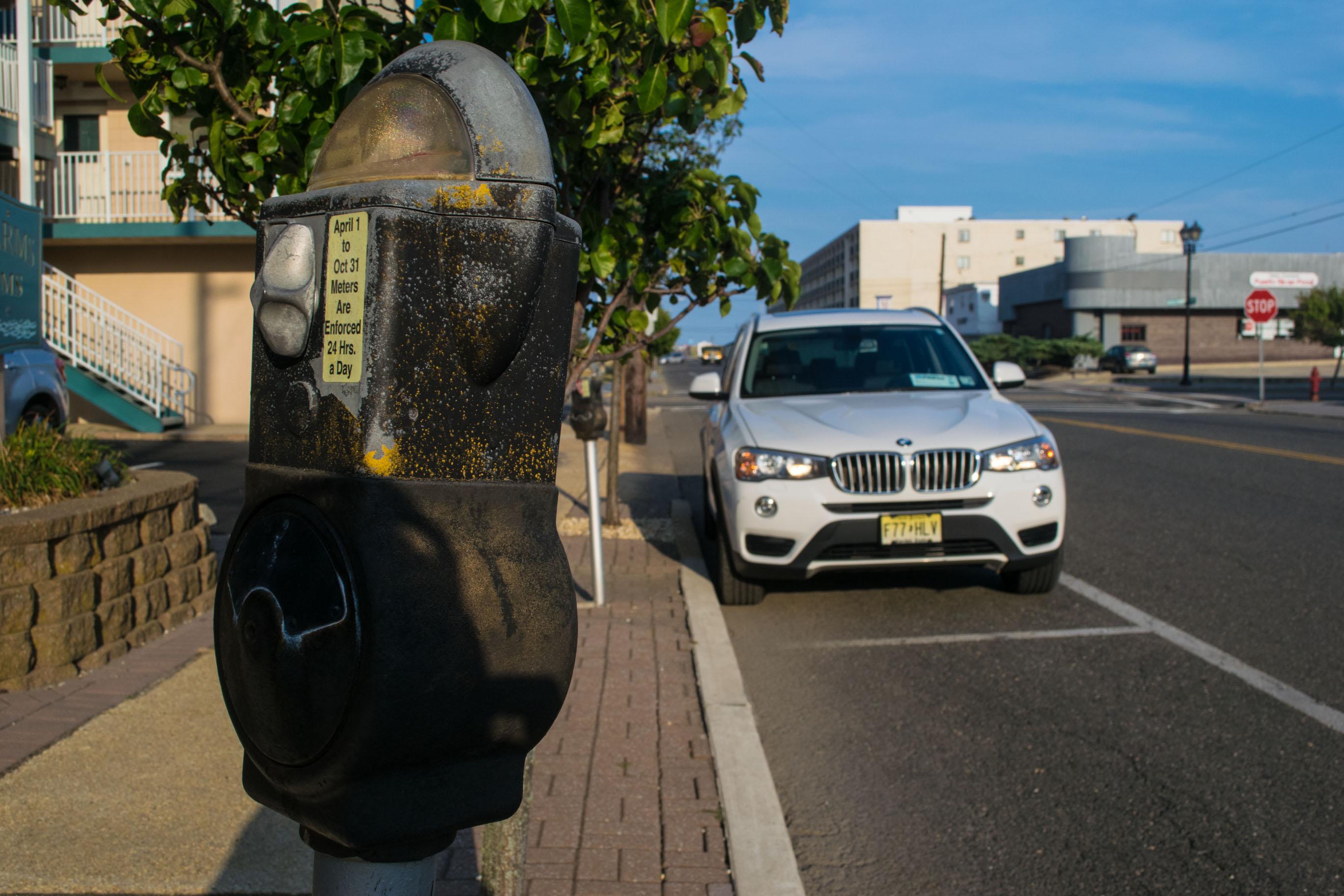 A mechanical parking meter in Seaside Heights, N.J. (Photo: Daniel Nee)