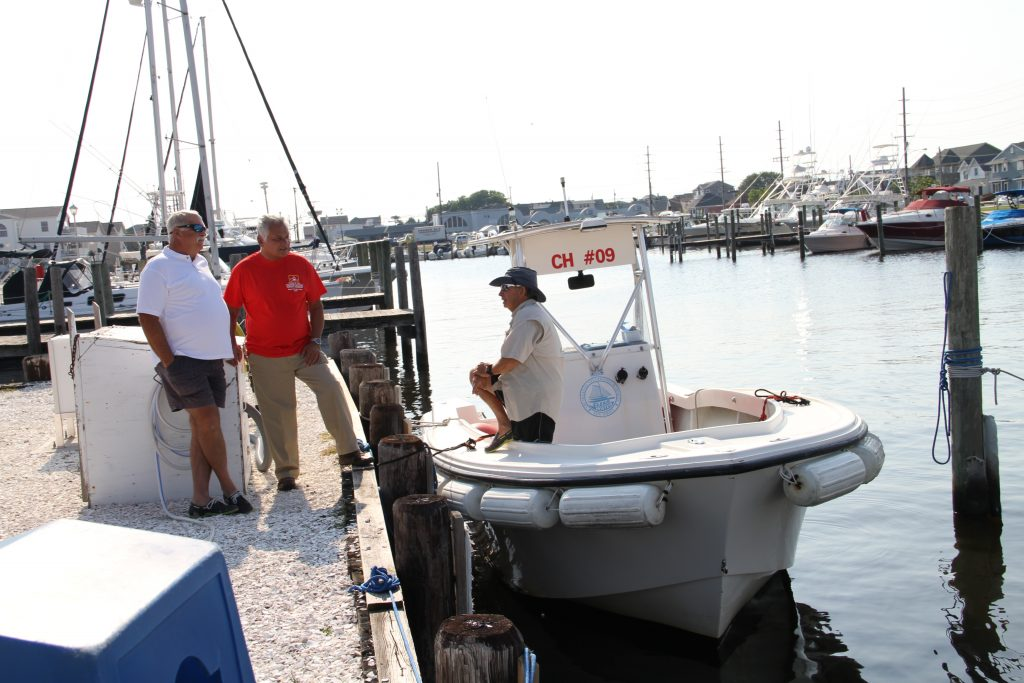 One vessel in the Ocean County pumpout boat fleet. (Photo: Ocean County)