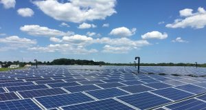 A solar field built at the former French's Landfill site in Brick Township. (Photo: Daniel Nee)