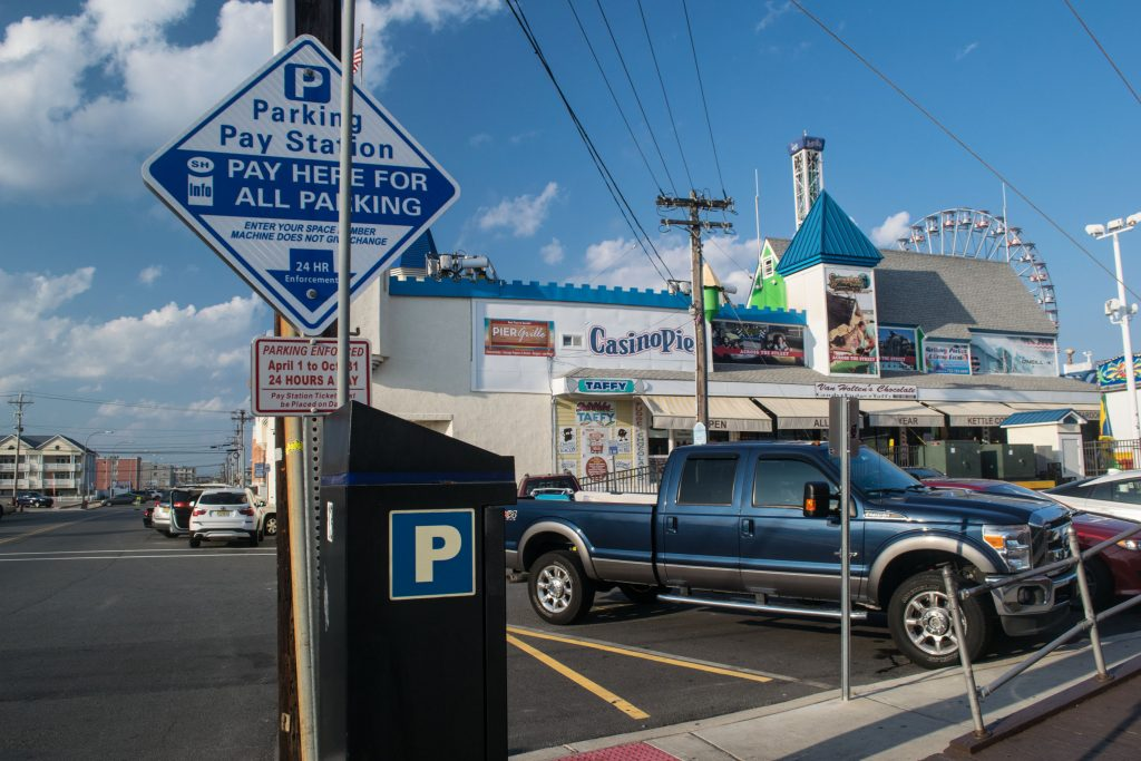 A Seaside Heights parking kiosk. (Photo: Daniel Nee)