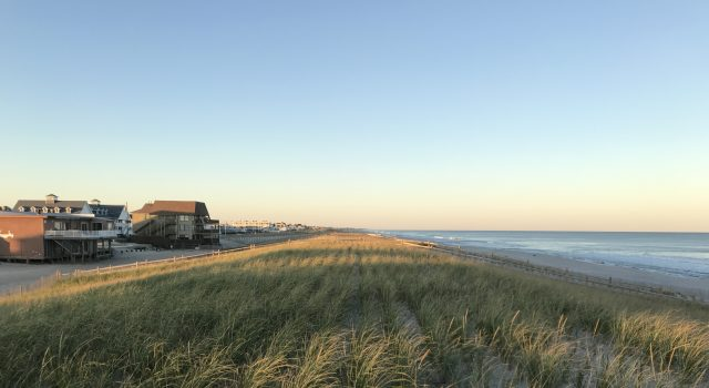 Ortley Beach following a nor'easter in Oct. 2019 that washed away a portion of the beach berm. (Photo: Daniel Nee)