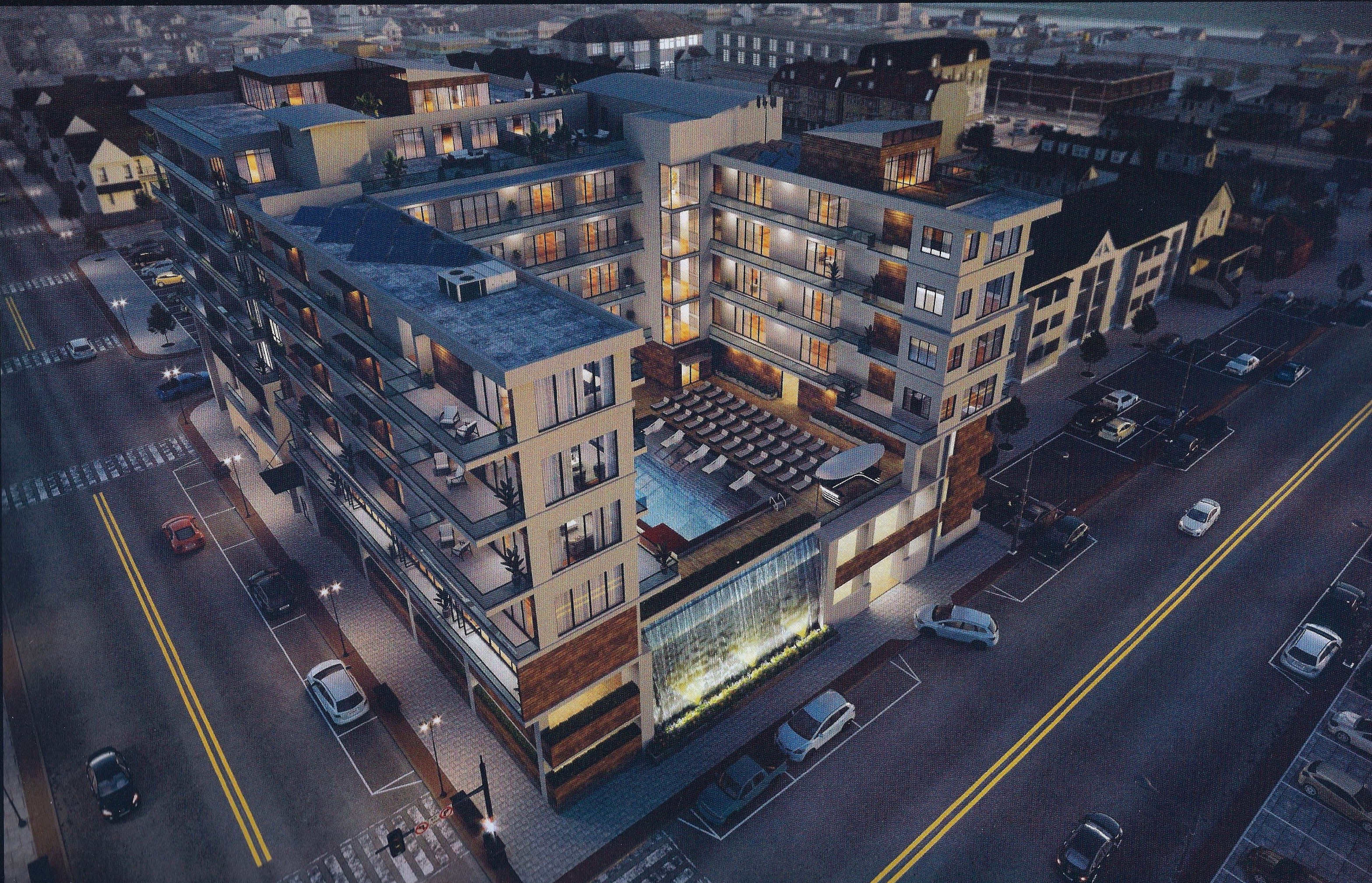 A proposed mixed-use property to replace the 'steel structure' in Seaside Heights. (Photo: Daniel Nee)