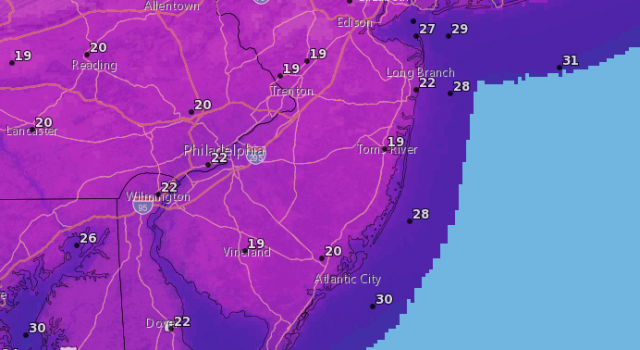 Overnight lows Tuesday into Wednesday. (Graphic: National Weather Service)